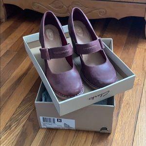 Clarks Carleta Prato shoe in Wine